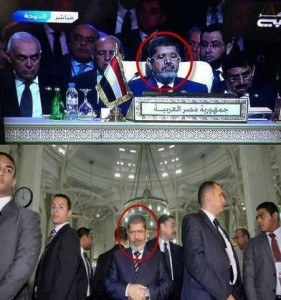 mohamed morsi sleeping doha arab league summit 281x300 Classical statements of President Morsi